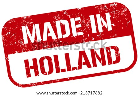 made in holland stamp - stock vector