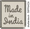 Made in India - stock vector