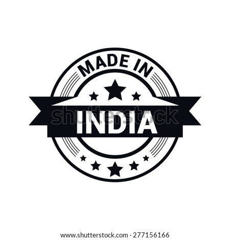 Made in india stamp - stock vector