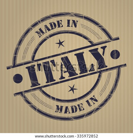 Made in Italy grunge rubber stamp - stock vector