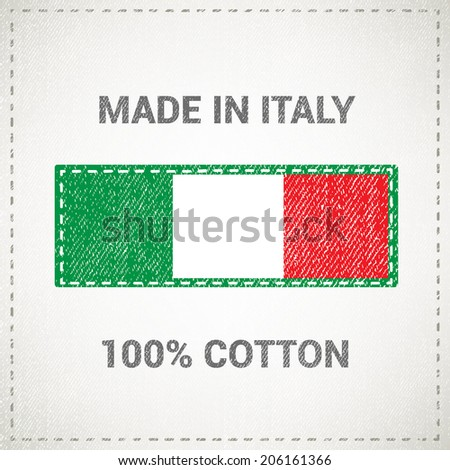 Made in italy label - stock vector