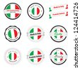 Made in Italy. Set of labels and badges - stock photo