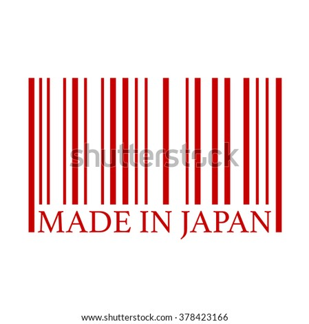 Made in japan full bar code. Flat design business financial marketing banking marketing advertising web minimal concept illustration.