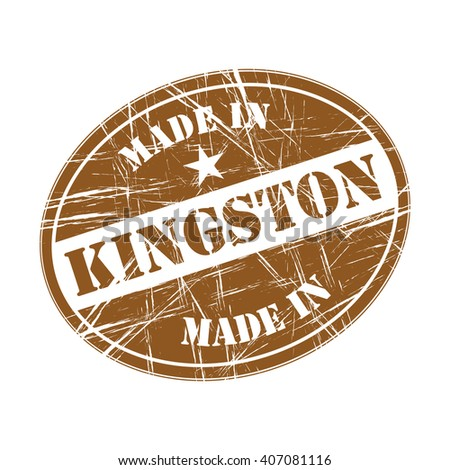 Made in Kingston rubber stamp - stock vector
