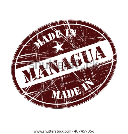 Made in Managua rubber stamp - stock vector