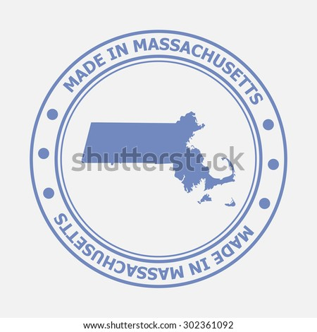 Made in Massachusetts seal. Sign of production. Vector illustration EPS8 - stock vector