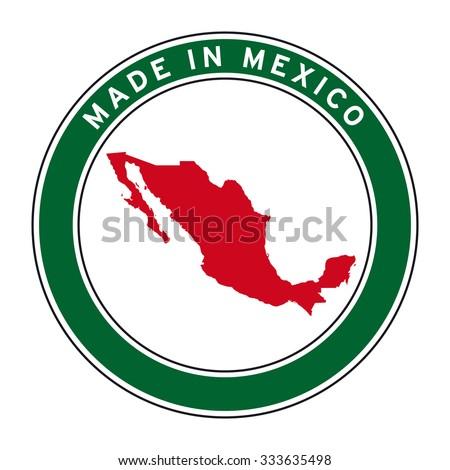 made mexico vector logo sticker button stock vector 333635498 rh shutterstock com tequila made in jalisco mexico logo tequila made in jalisco mexico logo