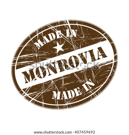 Made in Monrovia rubber stamp - stock vector