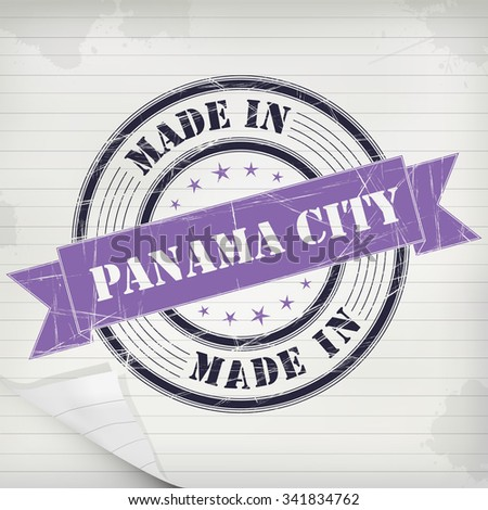 Made in Panama City vector rubber stamp on grunge paper - stock vector