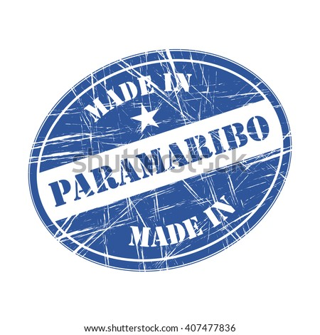 Made in Paramaribo rubber stamp - stock vector