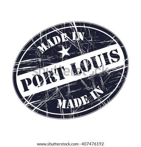 Made in Port Louis rubber stamp - stock vector