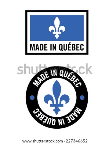 Made in Quebec Icon Set - Vector - stock vector