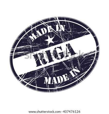 Made in Riga rubber stamp - stock vector