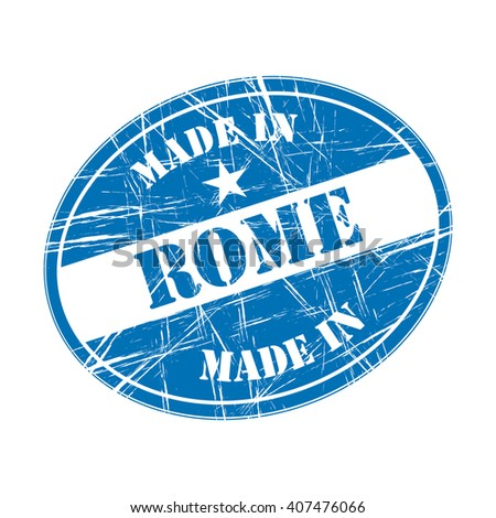 Made in Rome rubber stamp - stock vector