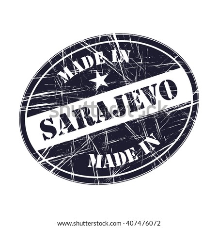 Made in Sarajevo rubber stamp