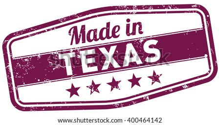 made in texas - stock vector