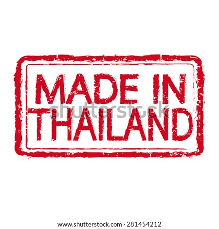 Made in THAILAND stamp text Illustration - stock vector