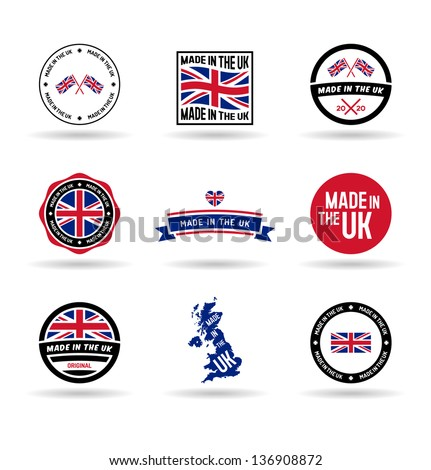 Made in the UK. Vol 1. - stock vector