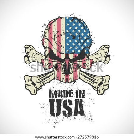 Made in the USA stamp. - stock vector
