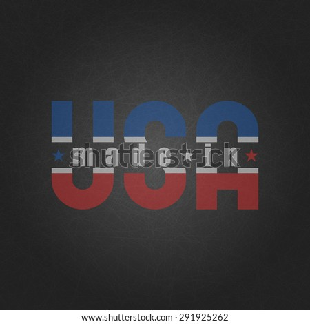 Made in the USA, worn poster on the old gray background - stock vector