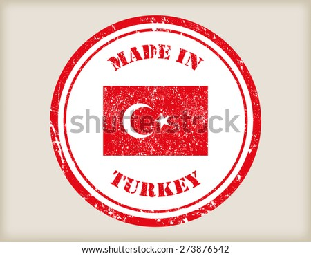 Made in Turkey grunge rubber stamp.Vector illustration. - stock vector