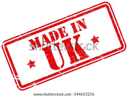 Made in UK Rubber Stamp - stock vector