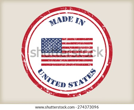 Made in USA grunge rubber stamp.Vector illustration.