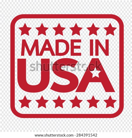 Made in USA Icon - stock vector