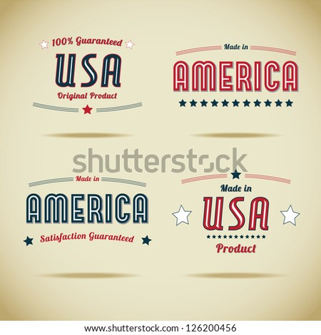 Made in Usa Vector Collection - stock vector