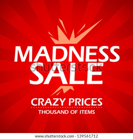 Madness sale banner. - stock vector
