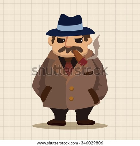 mafia theme elements - stock vector