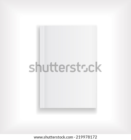 magazine blank cover white design - stock vector
