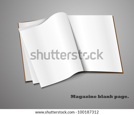 Magazine blank page template for design layout. - stock vector