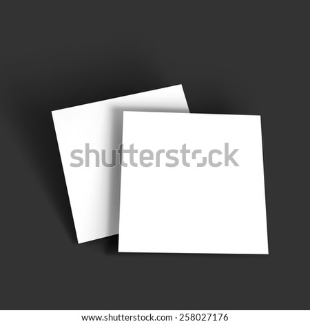 Magazine, booklet, postcard, business card or brochure mockup template. Vector Illustration EPS10. - stock vector