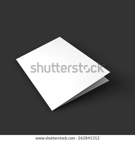 Magazine, booklet, postcard, business card or brochure mockup template. Vector Illustration EPS10. - stock vector