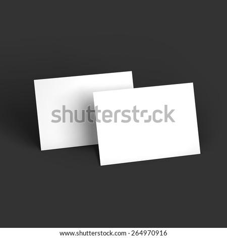 Magazine, booklet, postcard or brochure mockup template. Vector Illustration EPS10. - stock vector