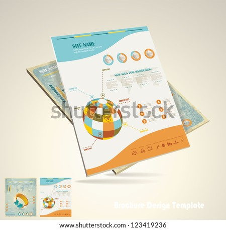 magazine cover layout design vector - stock vector