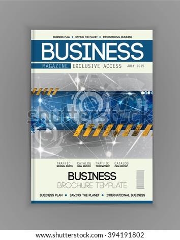 Magazine cover, vector - stock vector