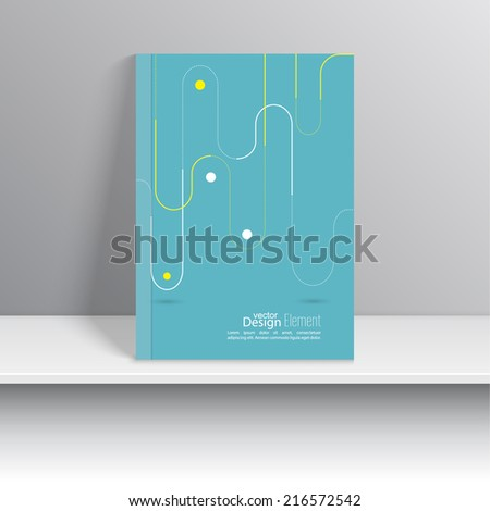 Magazine Cover with pattern, lines, dotted lines, hipster. Modern flat design. Booklet, postcard, business card, annual report, cover. vector illustration. abstract background - stock vector