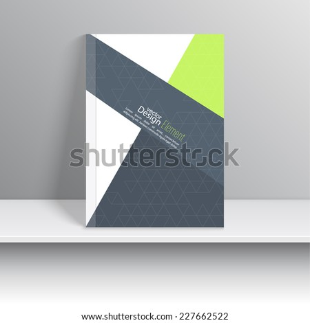 Magazine Cover with pieces of colored paper, triangles. For book, brochure, flyer, poster, booklet, leaflet, cd cover design, postcard, business card, annual report. vector. abstract background - stock vector