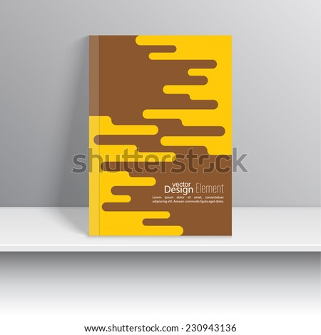 Magazine Cover with schematic particle. For book, brochure, flyer, poster, booklet, leaflet, CD cover design, postcard, business card, annual report. vector illustration. abstract background - stock vector