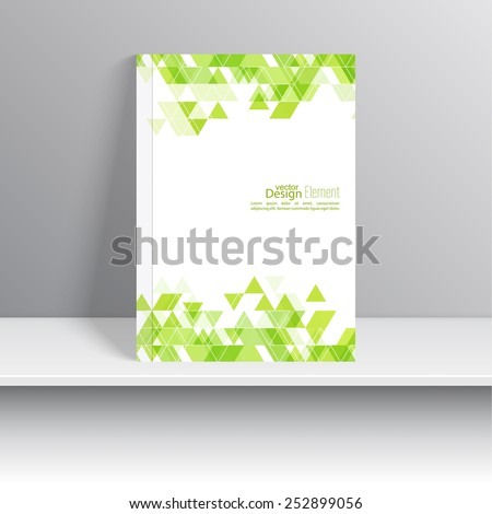 Magazine Cover with  triangles. For book, brochure, flyer, poster, booklet, leaflet, cd cover design, postcard, business card, annual report. vector illustration. abstract background - stock vector