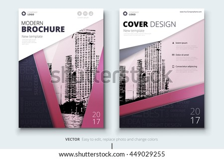 Magazine design corporate business template brochure stock Modern design magazine