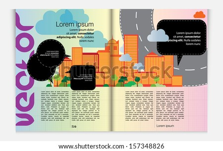 Magazine design. Vector - stock vector