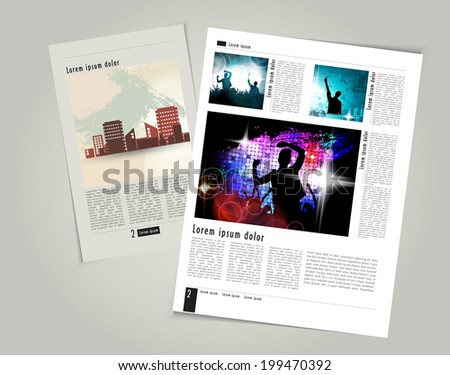 Magazine layout design. Editable vector  - stock vector