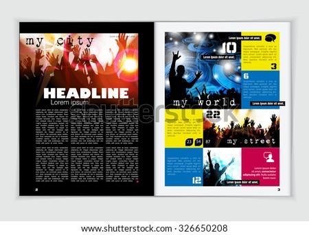 magazine layout word