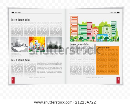 Magazine Layout Vector  - stock vector