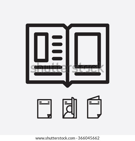 Magazine open page vector. Journal icon - stock vector