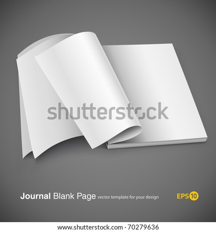 Magazine page with design layout. Vector illustration on gray background. eps10 - stock vector