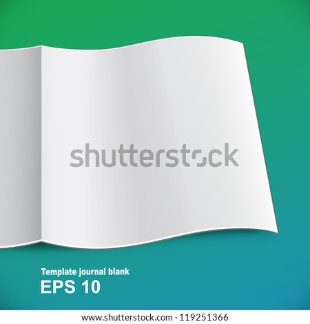 Magazine template for business reports - stock vector